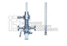Catheter Deflecting Mechanism, 2 Instrument Channels with Rachet