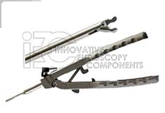 5mm Teflon Coated, Aluminum Needle Holder, s-shaped, L=330mm, LL Connector