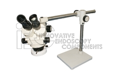 Binocular Stereo Zoom Microscope 0.7x-4.5x incl. Boom stand and Ring Light with spare bulb