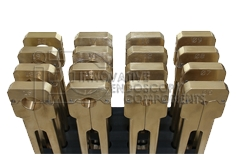 Opening tool kit, solid brass, 16 pcs. for Rigid Endoscope Repair, incl. tool holder
